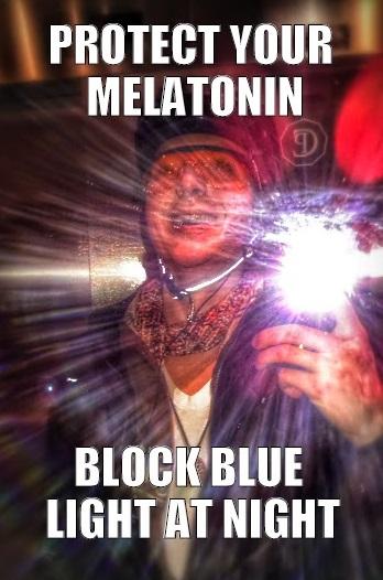 blue blocking meme