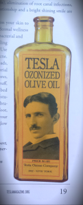 Tesla's Commercial Ozone Oils (Picture from Tesla Magazine Vol. 4)